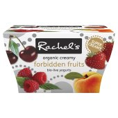 Picture of Rachel's Organic Forbidden Fruits Yogurts 4 x 120g