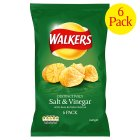 Picture of Walkers Salt & Vinegar Crisps 6 x 25g