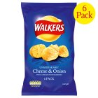 Picture of Walkers Cheese & Onion Crisps 6 x 25g