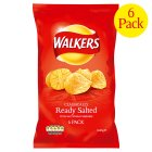 Picture of Walkers Ready Salted Crisps 6 x 25g
