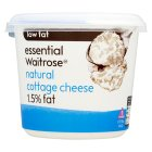 Picture of Low Fat Natural Cottage Cheese 1.5% Fat essential Waitrose 300g