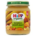 Picture of Hipp Organic Banana & Peach Dessert 125g