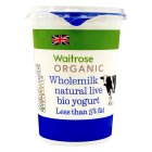 Picture of Organic Wholemilk Natural Bio Yogurt Waitrose 500g