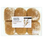 Picture of Wholemeal Baps essential Waitrose 6 per pack