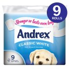 Picture of Andrex White Toilet Tissue 9 per pack