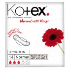 Picture of Kotex Ultra Thin Pads Normal with Wings 14 per pack