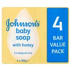 Picture of Johnson's Baby Soap with Honey 4 x 100g