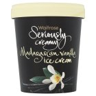 Picture of Seriously Creamy Madagascan Vanilla Ice Cream Waitrose 500ml