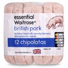 Picture of 12 British Pork Chipolatas essential Waitrose 340g
