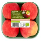 Picture of Organic Pink Lady Apples Waitrose 4 per pack
