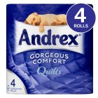 Picture of Andrex Quilts Toilet Tissue 4 per pack