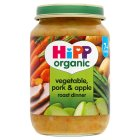 Picture of Hipp Organic Vegetable, Pork & Apple Roast Dinner 190g
