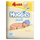 Picture of Huggies Pure Baby Wipes 4 x 64 per pack
