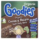 Picture of Organix Goodies Organic Cocoa & Raisin Cereal Bars 6 x 30g