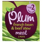 Picture of Plum Baby Organic Stage 2 French Bean & Beef Stew Meal 2 x 100g