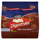 Picture of McVitie's Mini Chocolate Digestives 6 x 25g