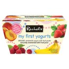 Picture of Rachel's Organic My First Fruit Yogurts 4 x 90g