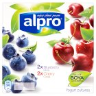 Picture of Alpro Blueberry / Cherry Yogurt Alternative  4 x 125g