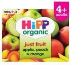 Picture of Hipp Organic Purely Fruits Apple, Peach & Mango 4 x 100g