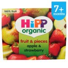 Picture of Hipp Organic Apple & Strawberry Puree & Pieces  4 x 100g