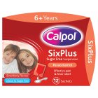 Picture of Calpol 6+ Sugar Free Strawberry Sachets 12 x 5ml