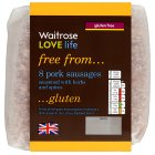 Picture of 8 Cambridge Gluten Free Pork Sausages Waitrose 454g