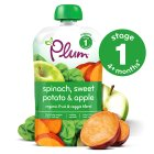 Picture of Plum 4+ months Spinach, Sweet Potato & Apple 100g