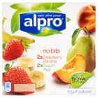 Picture of Alpro No Bits Strawberry, Banana, Peach & Pear Yogurt Alternative 4 x 125g