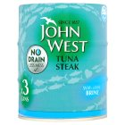 Picture of John West No Drain Tuna Steak In Brine 3 x 130g