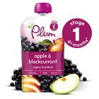 Picture of Plum Baby Organic Stage 1 Apple & Blackcurrant Puree 100g