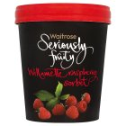 Picture of Seriously Fruity Sorbet Willamette Raspberry Waitrose 500ml