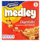 Picture of McVitie's Medley Digestives Hazelnut & Chocolate Multipack 6 x 30g