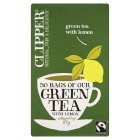 Picture of Clipper Fairtrade Green Tea with Lemon 50 per pack