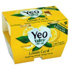 Picture of Yeo Valley Organic Wholemilk Lemon Curd Yogurts 4 x 120g