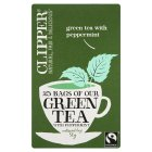 Picture of Clipper Fairtrade Green with Peppermint Tea Bags 25 per pack