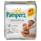 Picture of Pampers Sensitive Baby Wipes 6 x 56 per pack