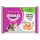 Picture of Whiskas Pouch Oh So Fishy & Meaty in Jelly 8 x 85g