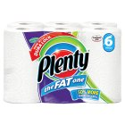 Picture of Plenty Fat White Kitchen Rolls 6 per pack