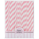 Picture of Pink Paper Straws 25 per pack
