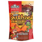 Picture of Orgran Mini Outback Animals Chocolate Cookies Multi Pack 175g