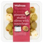 Picture of Pimento Stuffed Olives with Manchego Waitrose 210g