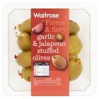 Picture of Jalapeno & Garlic Stuffed Olives Waitrose 0.18kg