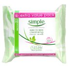 Picture of Simple Kind To Skin Cleansing Facial Wipes Twin Pack 50 per pack