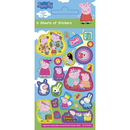 Picture of Peppa Pig Party Sticker Pack 6 per pack