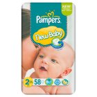 Picture of Pampers New Baby Size 2 (3-6kg) Economy Pack 58s 58 per pack