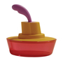 Picture of Alessi Ship Shape Container, Red