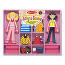 Picture of Melissa & Doug Abby & Emma Magnetic Wooden Dress-Up Dolls