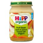 Picture of Hipp Organic Fruit Layer Apple & Apricot with Yoghurt 160g