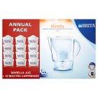 Picture of Brita Marella Cool White Jug Annual Pack Includes 12 Cartridges