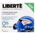 Picture of Liberte Blueberry Strained Greek Style 0% Fat Yogurt 4 x 100g